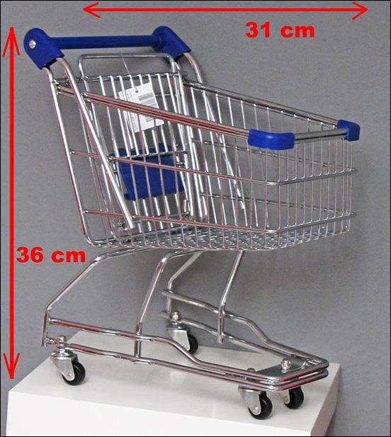 36 cm xxl deko mini einkaufswagen mit rollen. Black Bedroom Furniture Sets. Home Design Ideas